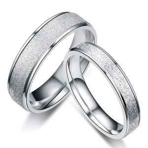 Jewelry - Stainless Steel Frosted Silver Ring